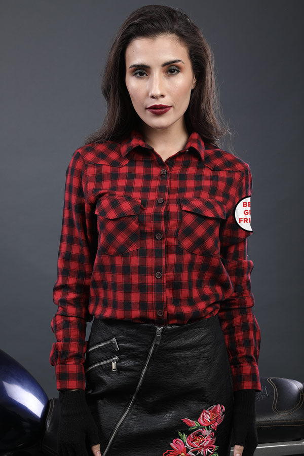6cbb154a Red And Black Matching, Checkered shirts For Him And Her