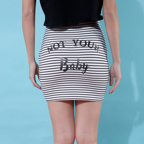 Not Your Baby, Matching Black And White Striped Skirts For Bffs