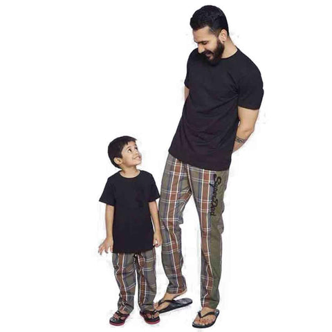 Camouflage checks super dad/super son Pyjamas Only