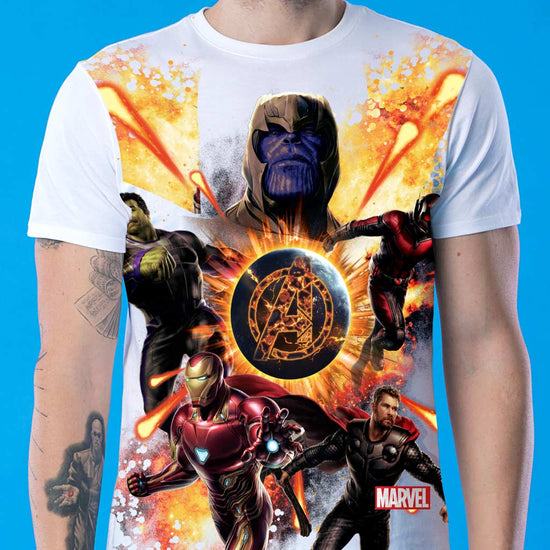 Fire Superheros, Marvel Tee For Boys