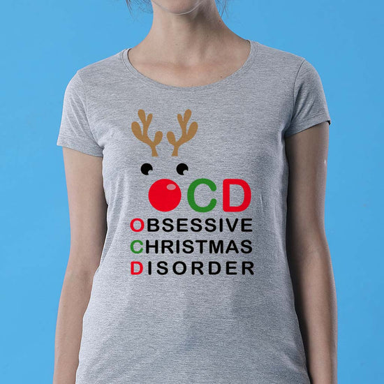 Obsessive Christmas Mom ,daughter And Son Tees