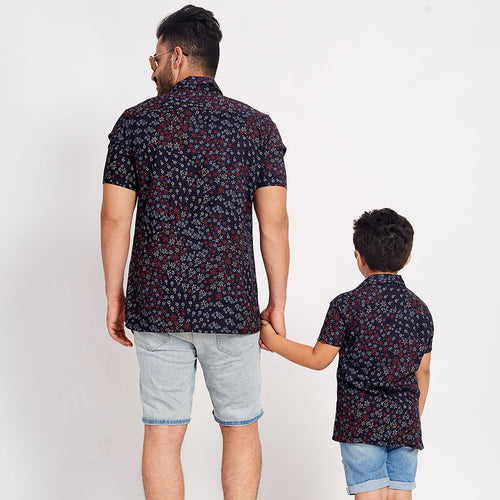 Flower Craze, Matching Shirts For Dad And Son