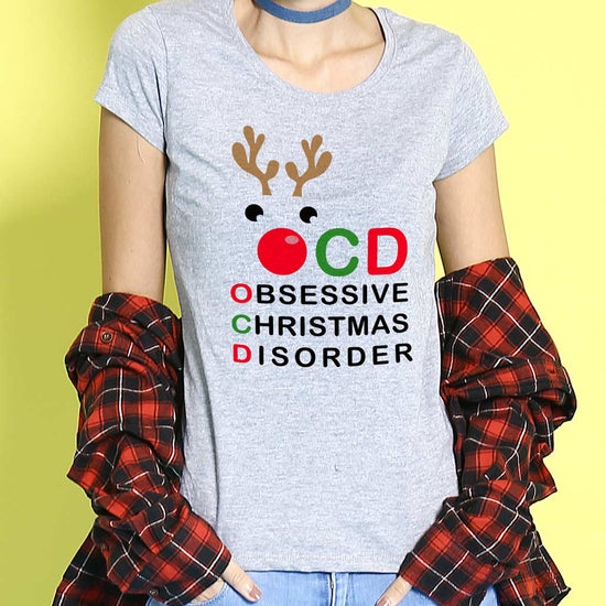 Obsessive Christmas Mom And Son Tees
