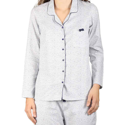 Soft Cotton Lapel With Pocket Bow Sleepwear Set For Mom & Daughter
