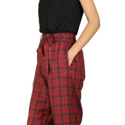 Red culottes with tee for mom & daughter
