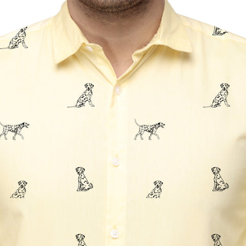 Dog Print dad and son shirt