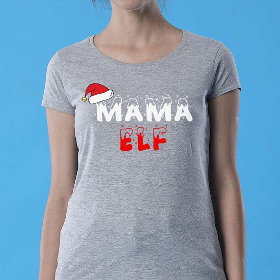 Family Elf, Mom, Daughter And Son Matching Tees