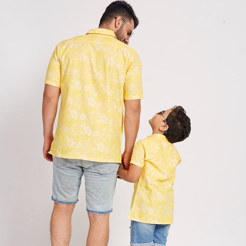 Summer Sunshine, Matching Shirts For Dad And Son