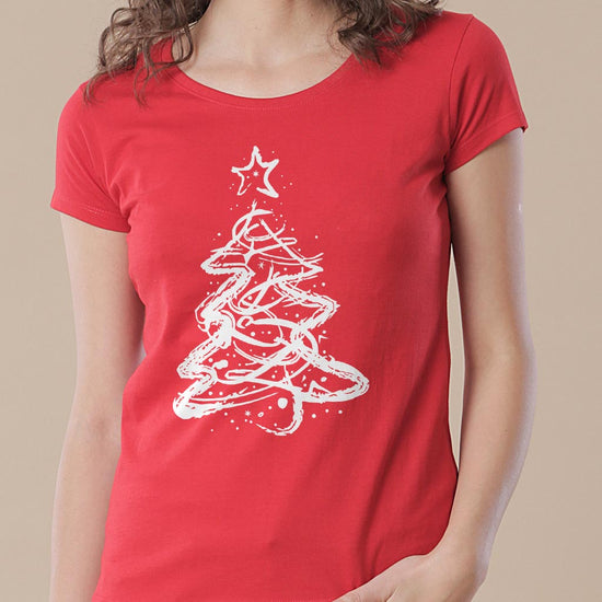 Christmas Tree, Mom, Son And Daughter Tees