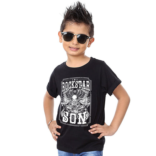 Black Rockstar Father And Son Tshirt