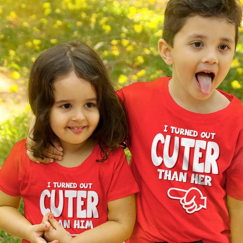 Cuter Than Him & Her Bro Sis Tees