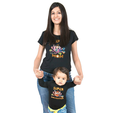 Super Mom/Super Daughter bodysuit and Tees