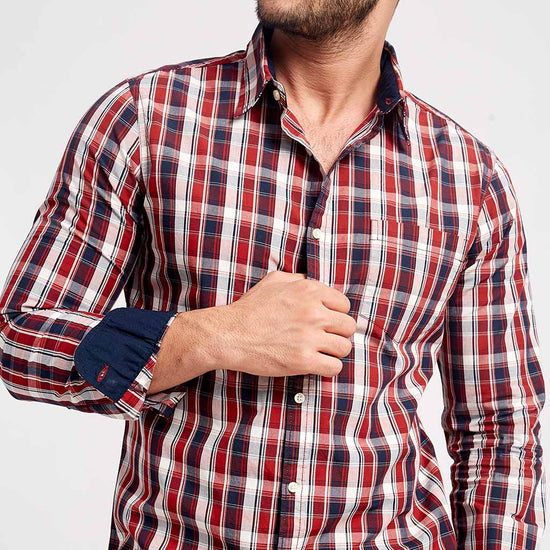 Red And Chequered, Matching Shirts For Men