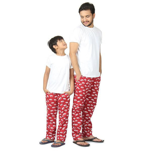 Father Son Hippo Print Pyjamas Only