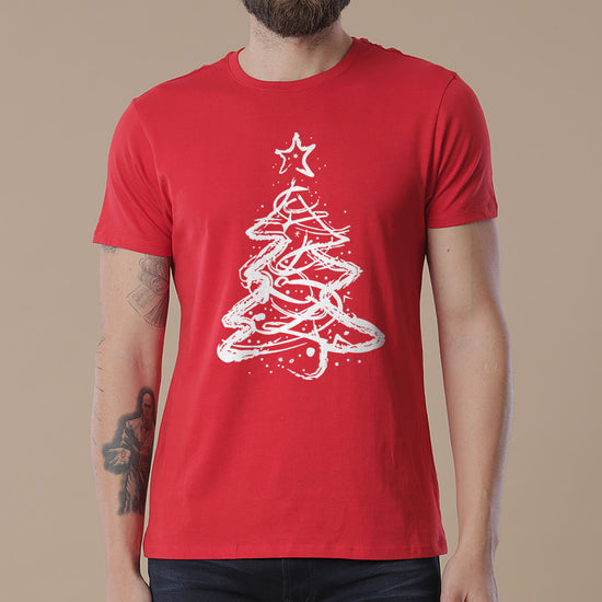 Christmas tree, dad and daughter tees