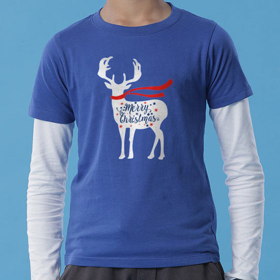 Christmas Reindeer, Mom And Son Tees