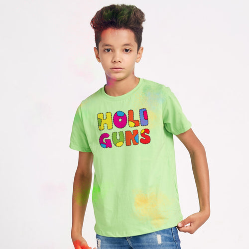 Holi Guns Family Tees