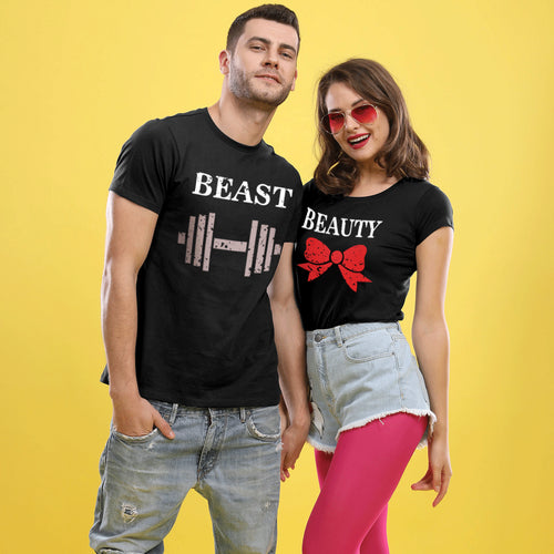 Beauty and Beast, Matching Couple Tees