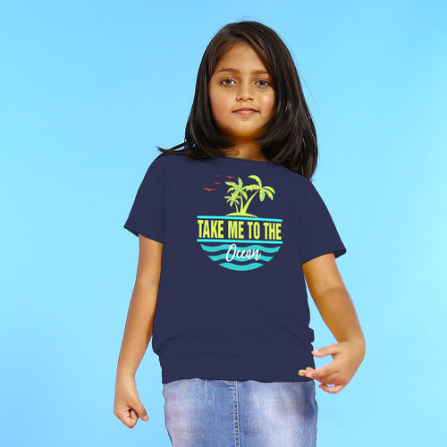 Take Me To The Ocean, Matching Travel Tees For Girl
