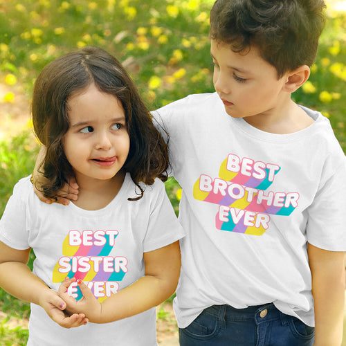 Best Brother/Sister Ever, Matching Tees For Siblings