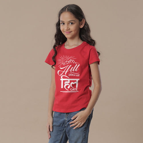 Hill Dekh Kar, Matching Travel Tees For Girl