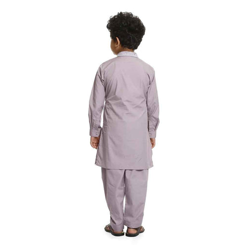 Beige-ish pink kurta with salwar set for Father-Son