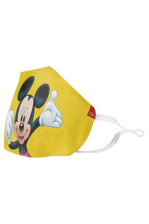 Mickey Donald & Pluto Printed Protective Kids Masks ( Set Of 3)