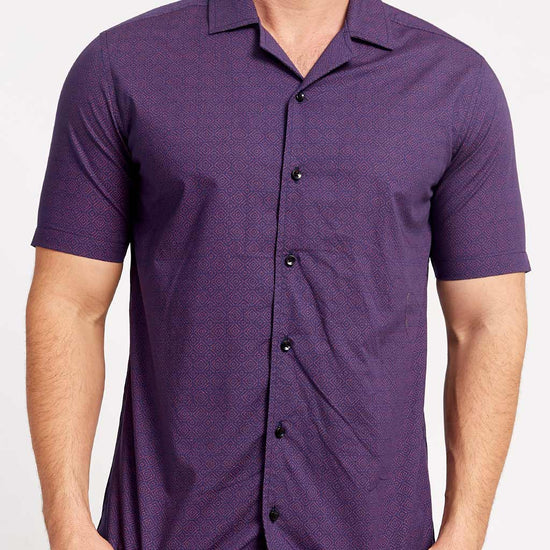 Summer Boho Purple , Matching Shirts For Dad And Son