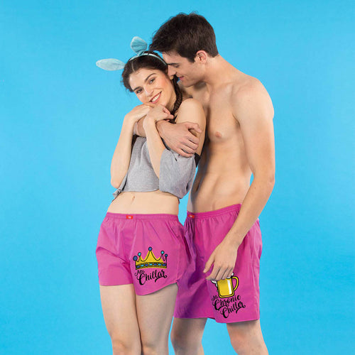 Bottoms Up Matching Couples Boxers