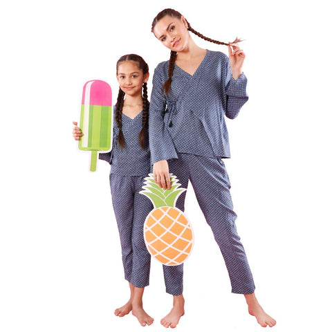 Kimono Lets Sleep, Matching Sleep Wear For Mom And Daughter
