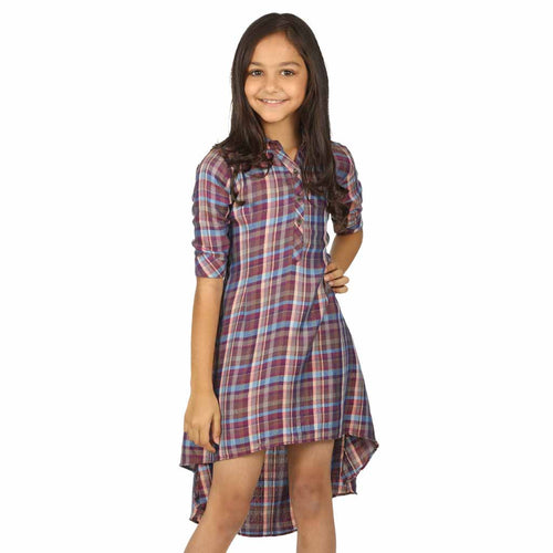 Checks high low dress for mom daughter for daughter