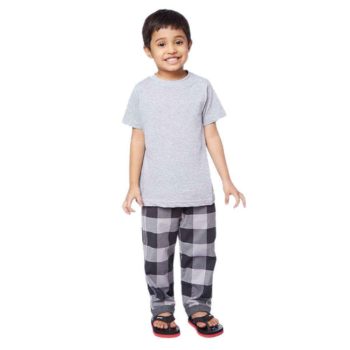 Checkered print knit detailed Pyjamas Only