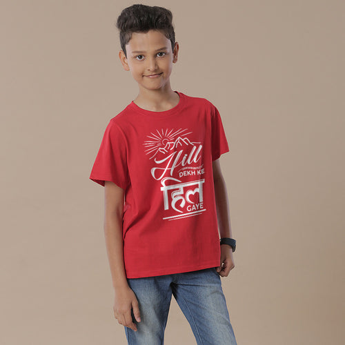 Hill Dekh Kar, Matching Travel Tees For Boy