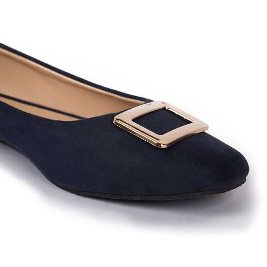Navy Suede Matching Ballerinas For Mom And Daughter