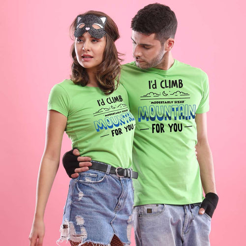 I'd Climb Mountain For you Combo Tee