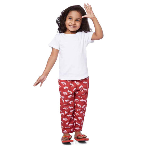 Hippo Print Red Pyjamas Only