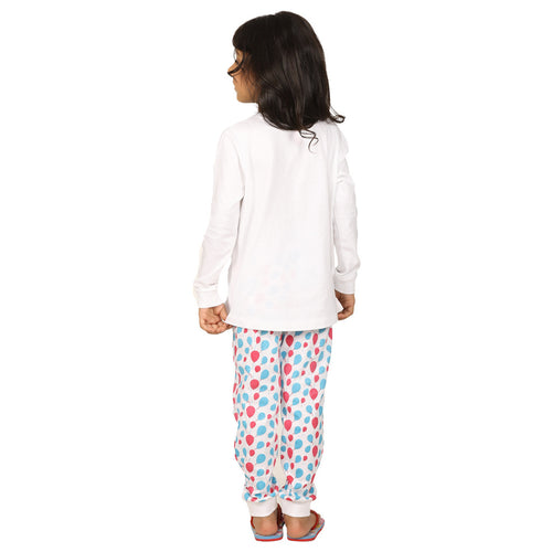 Balloon Print Knitted Nightwear Set For Mom & Daughter