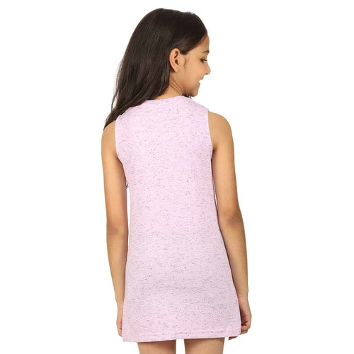 Violet front slit long knitted top for mom daughter