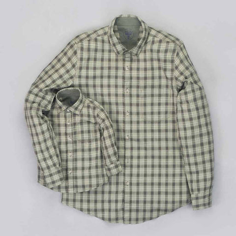 Green Checks Cotton shirt for Father/Son