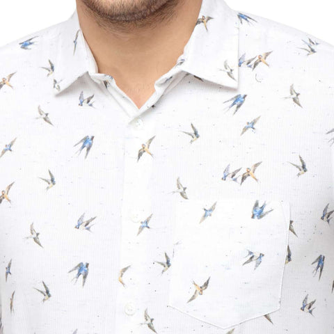 Bird Print Dad and Son Shirt