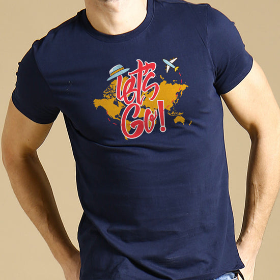 Let's Go, Matching Navy Blue Travel Tees