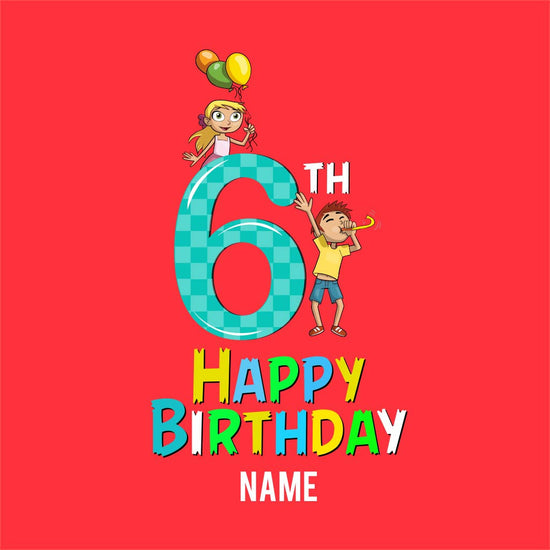 6th Happy Birthday custom Tee