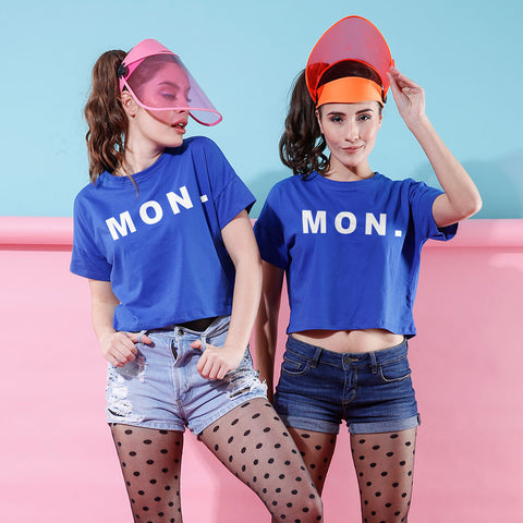 MON., Crop Tops For Bffs