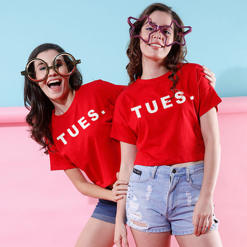 TUES., Crop Tops For Bffs