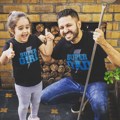 Super Girl/Super Dad Tees