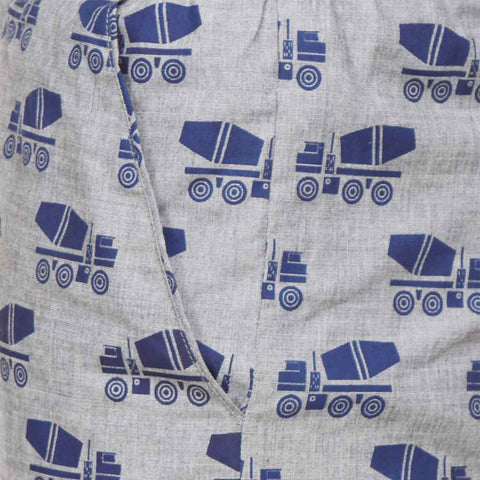 Concrete Mixer Dad and Son Pyjamas