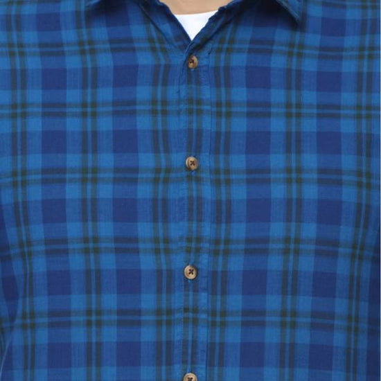 Team Awesome  Indigo Blue Full Sleeve Shirt For Boy