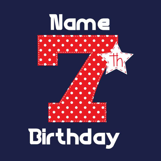 7th Birthday Girl Tee