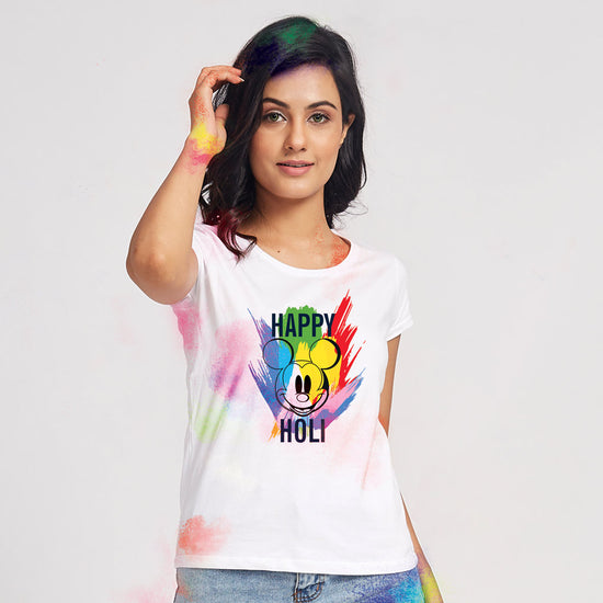 Happy Holi Disney Matching Family Tees