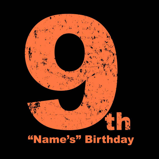 9th Birthday Boy Tee